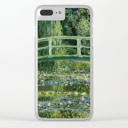 WATER LILLIES AND JAPANESE BRIDGE - CLAUDE MONET Clear iPhone Case
