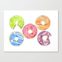 donut Canvas Prints featuring Donut by Inkwork