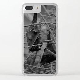 Dark Bat Laughs Clear iPhone Case