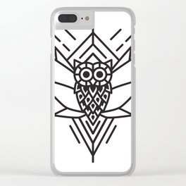 Owl Minimal Clear iPhone Case