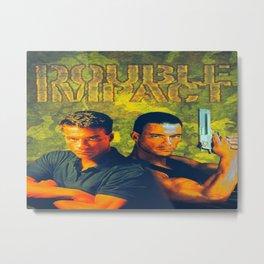 Twin Impact Metal Print