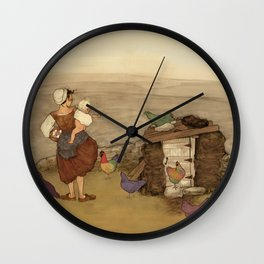 On the Land Wall Clock