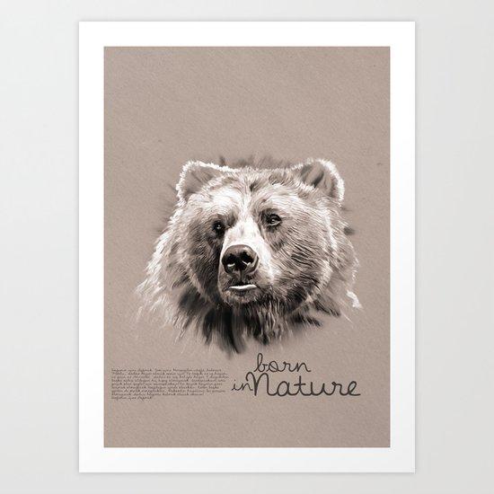 Bear (BornInNature) Art Print