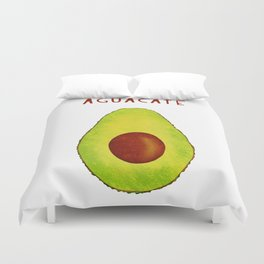 Aguacate Avocado Red Hand Lettering Duvet Cover