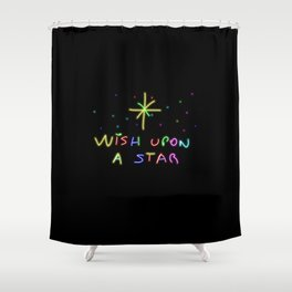 Wish upon a start Shower Curtain