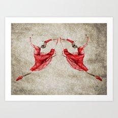 Dancing Her Demons Away #3 Art Print