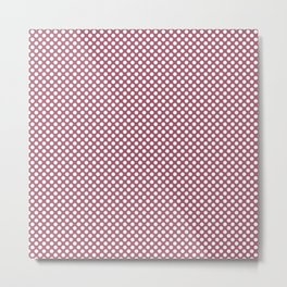Rose Wine and White Polka Dots Metal Print
