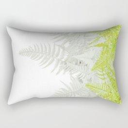 PALE GREEN & GREY ABSTRACT WOODLAND FERNS ART Rectangular Pillow
