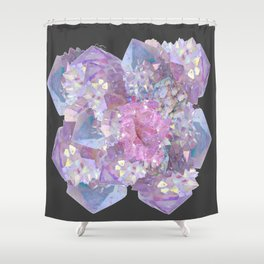 ROSE & PURPLE QUARTZ CRYSTALS MINERAL SPECIMEN Shower Curtain