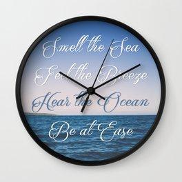 Hear the Ocean, Be at Ease Wall Clock