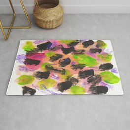 Feeling Lucky Abstract Painting Rug