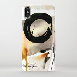 Enso Abstraction No. 105 by Kathy morton Stanion iPhone Case