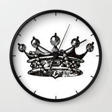 Royal Crown   Black and White Wall Clock