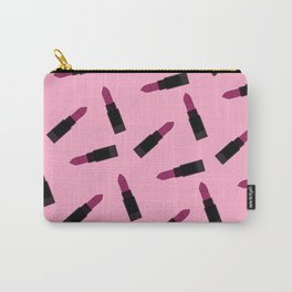 pink lipstick pattern Carry-All Pouch