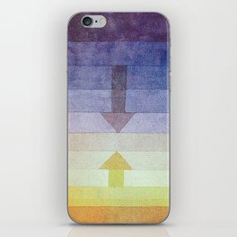 Separation in the Evening by Paul Klee 1922 // Sunset Abstract Minimalism Sun and Darkness iPhone Skin