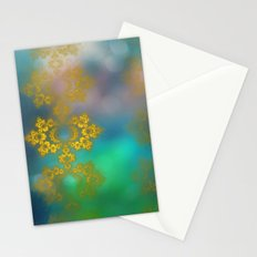 Gold lace decoration Stationery Cards