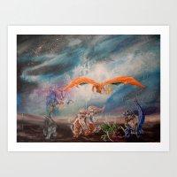 Team Galxy Sweeper Art Print