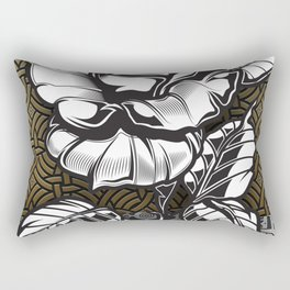 Rubino Metal Rose One World Rectangular Pillow