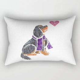 Watercolour Cavalier King Charles Spaniel Rectangular Pillow
