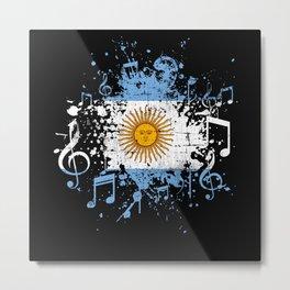 Argentina Music Flag Metal Print