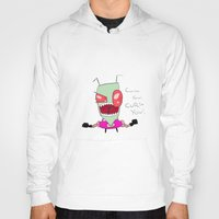 invader zim Hoodies featuring Invader Zim - Curse You! by PaulECDiplock