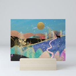Magical starry night Mini Art Print