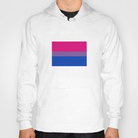 bisexual Hoodies featuring bisexual flag by tony tudor