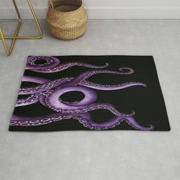 Purple Kraken at Night Rug