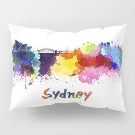 Sydney skyline in watercolor Pillow Sham