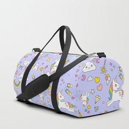 Unicorn Lilac Pattern Duffle Bag