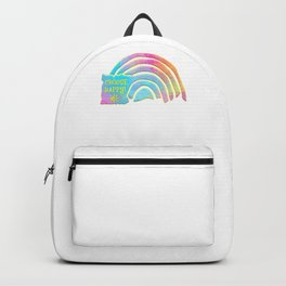 Choose Happy Positive Vibes Pastel Rainbow Backpack