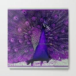 Purple Peacock Metal Print