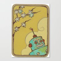 robot Canvas Prints featuring Robot by Willow Dawson