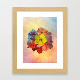 Colorful Hibiscus Bouquet Framed Art Print