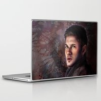 dean winchester Laptop & iPad Skins featuring Dean Winchester by Jackie Sullivan
