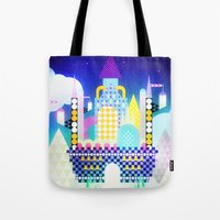 castle in the sky Tote Bags featuring Castle in the Sky by Alexander Pohl