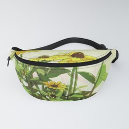Black Eyed Susan and Her Pollinators Collection TRIPPY Fanny Pack