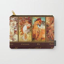 Art Nouveau Mucha Four Seasons Carry-All Pouch