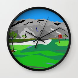 Golf Hole 13 Wall Clock