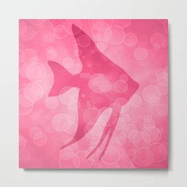 Angelfish in Blush Pink Metal Print