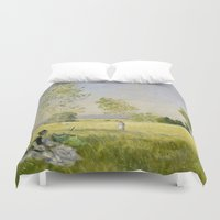 monet Duvet Covers featuring Summer by Claude Monet by Palazzo Art Gallery