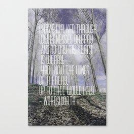 Wordsworth Canvas Print
