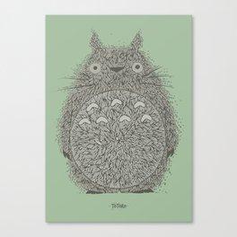 Green Totoro Canvas Print