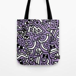The Purple Doodle Tote Bag
