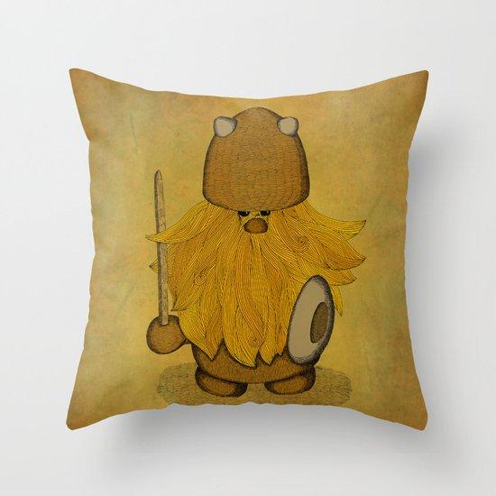 Hirsute Viking Homunculus Throw Pillow