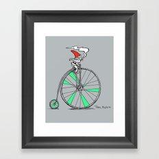Trail Blazing Gnome Framed Art Print