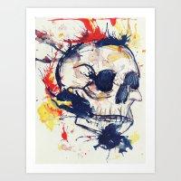 Flaming. Art Print