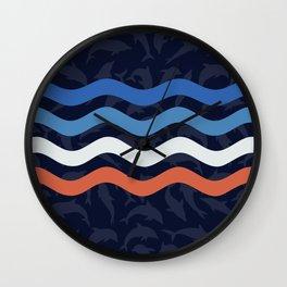 Onde Dei Delfini Wall Clock