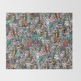 Gemstone Cats Throw Blanket