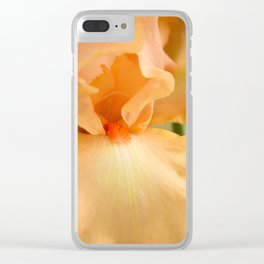 Bearded Iris Orange Harvest Clear iPhone Case
